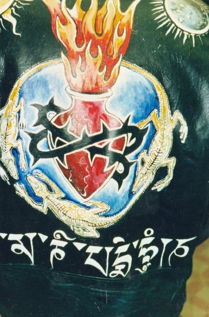Back of Jarboes Jacket that I painted