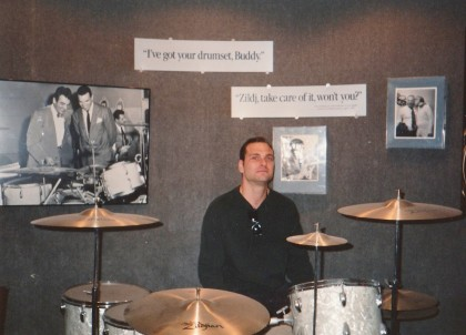 Behind Buddy Rich's  kit;  TP Zildjian Day!