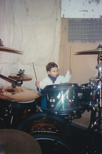 Hunter on drums!