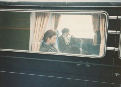 Me and Jarboe in the van