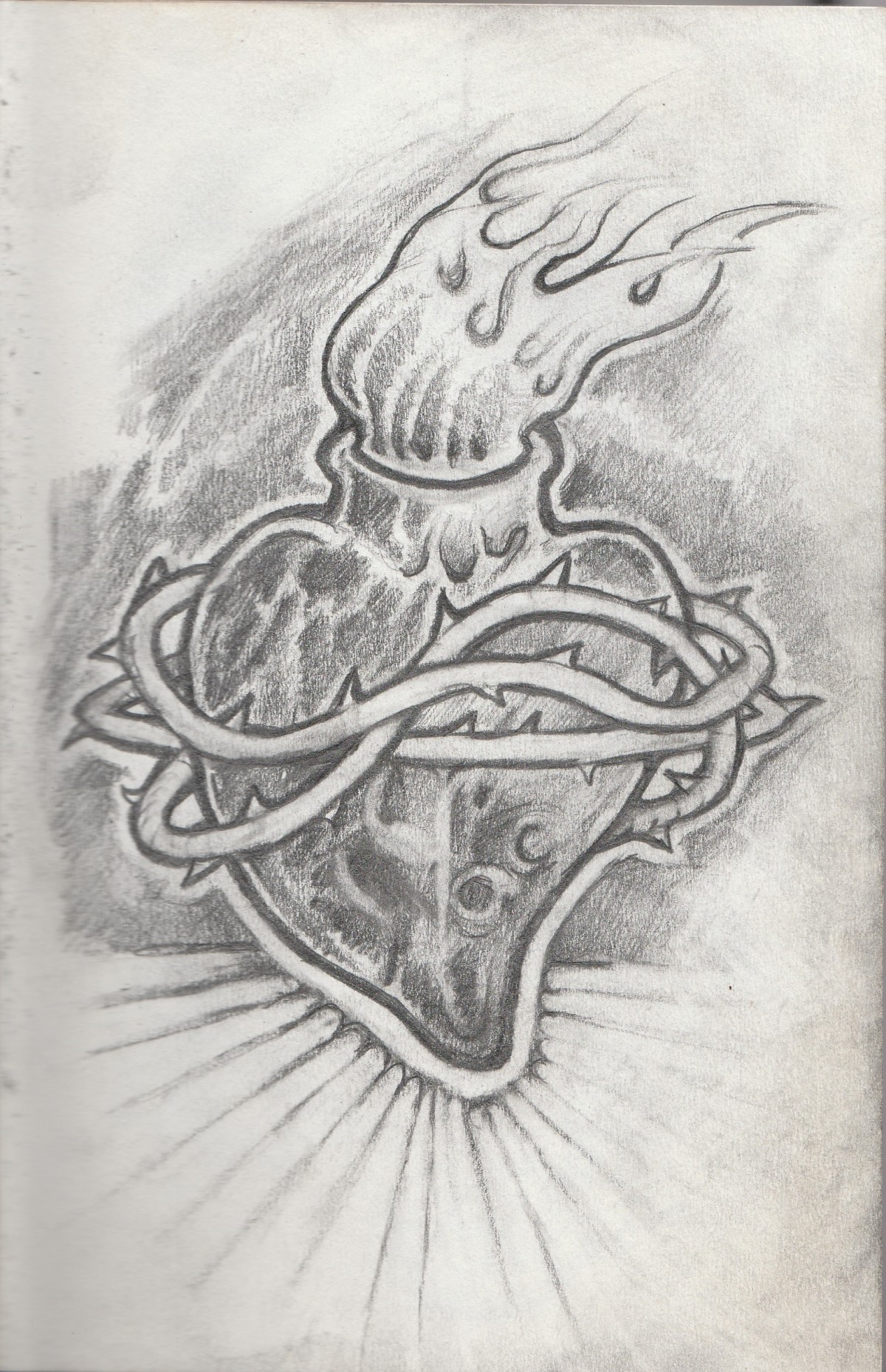 Sacred Heart Drawing